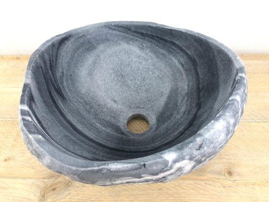 Ovale natuurstenen waskom | W011 | 31,5 x 26,5 x 14,5 cm
