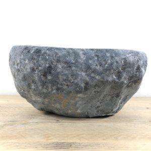 Grijze natuurstenen waskom | W013 | 31 x 27 x 15 cm