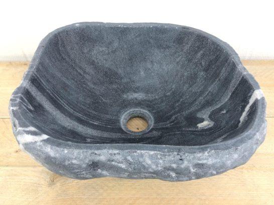 Rivierstenen waskom | W017 | 36 x 30 x 15,5 cm