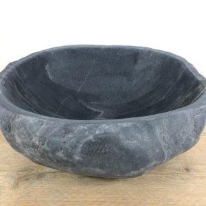 Grijze natuurstenen waskom | W024 | 34 x 30 x 15,5 cm