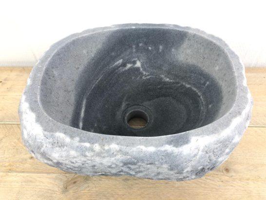 Natuurstenen waskom | W025 | 34 x 30 x 15,5 cm