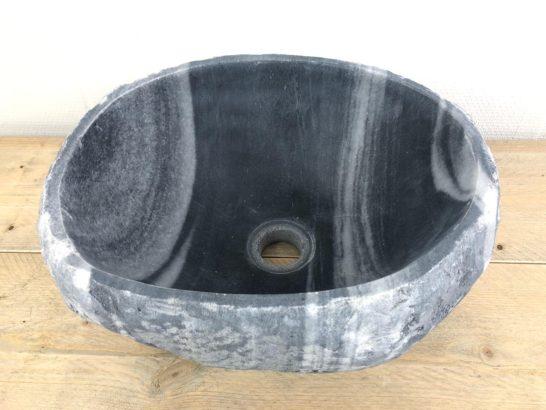 Rivierstenen waskom   W027   36,5 x 31 x 15,5 cm