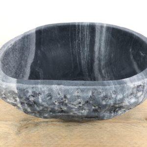 Rivierstenen waskom | W029 | 35,5 x 31 x 15,5 cm