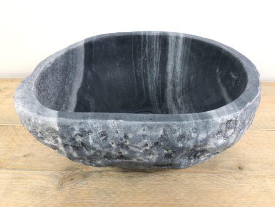 Rivierstenen waskom   W029   35,5 x 31 x 15,5 cm
