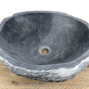 Grijze rivierstenen waskom | W030 | 46 x 40,5 x 15 cm