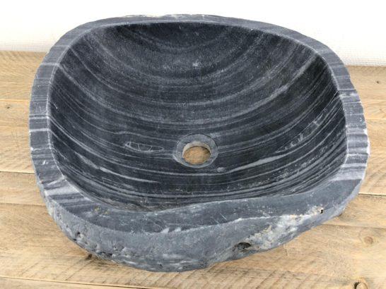Rivierstenen waskom | W037 | 44 x 41 x 15,5 cm