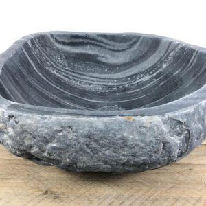 Rivierstenen waskom   W041   44 x 40 x 16 cm