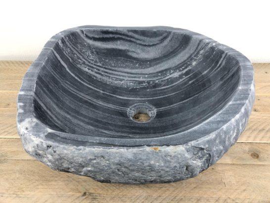 Rivierstenen waskom | W041 | 44 x 40 x 16 cm