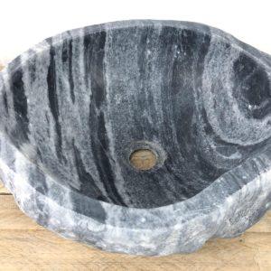 Natuursteen waskom | W053 | 40x 36,5 x 15 cm