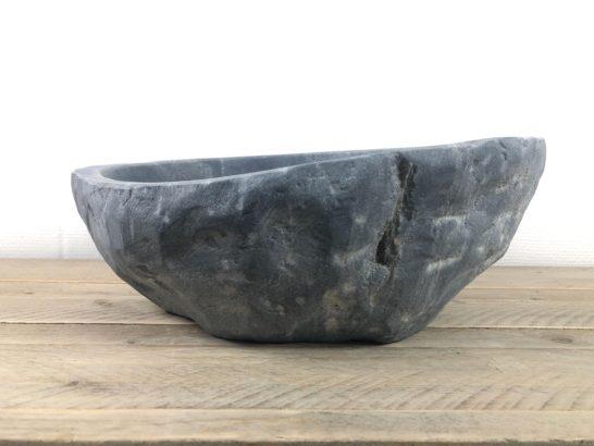 Ovale natuursteen waskom   W060   40,5 x 36 x 13 cm