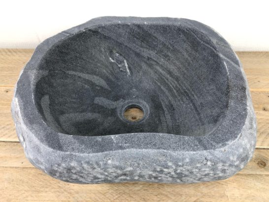 Riviersteen waskom | W068 | 41 x 33,5 x 16 cm