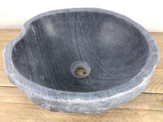 Rivierstenen waskom | W069 | 40 x 35,5 x 15,5 cm