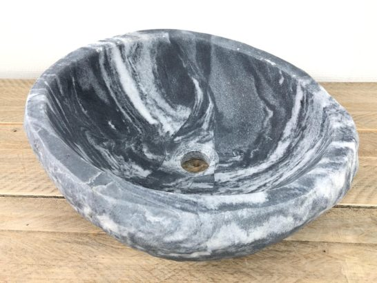 Natuursteen waskom | W070 | 39,5 x 34,5 x 15 cm