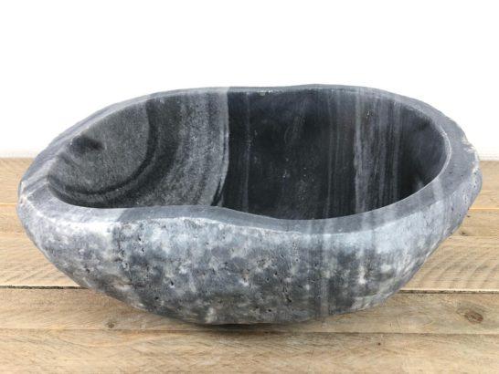 Riviersteen waskom   W076   39,5 x 33,5 x 14 cm