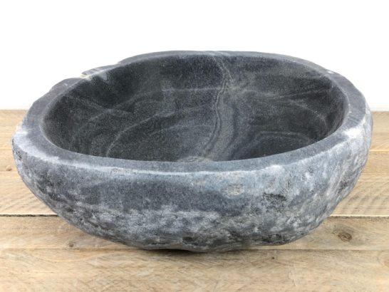 Ronde natuursteen waskom | W079 | 39,5 x 38 x 15 cm