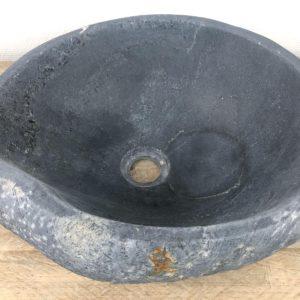 Grijze natuursteen waskom | W084 | 39,5 x 36 x 15 cm