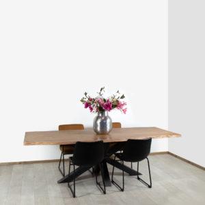Acacia boomstam tafel Innis met matrixpoot