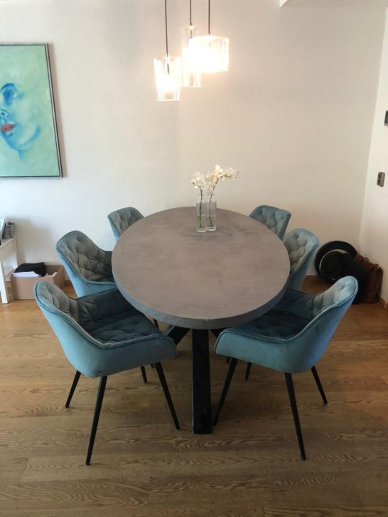 Ovale betonlook tafel Lillie