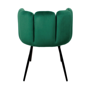 High five chair velvet - emerald groen