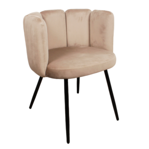High five chair velvet - zand
