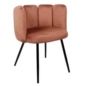 High five chair velvet - koper