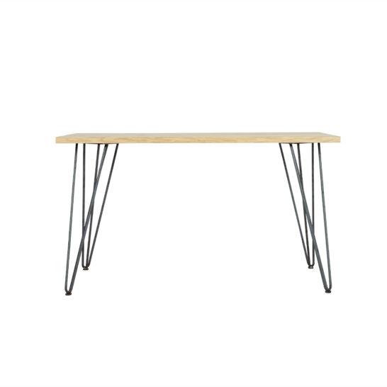 Eikenhouten tafel Norco met hairpin legs