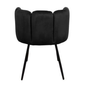 High five chair velvet - zwart