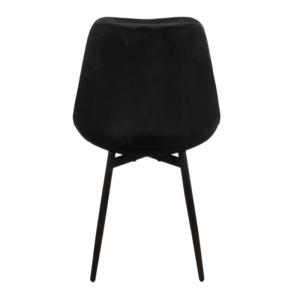 Leaf chair velvet – zwart