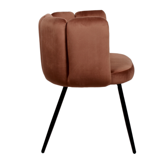 High five chair velvet - koper