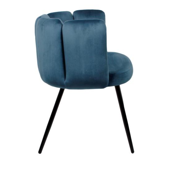 High five chair velvet - donkerblauw