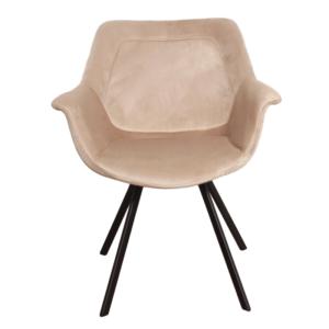 Ray arm chair velvet - zand