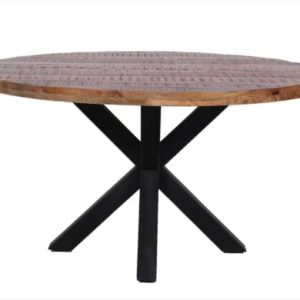 Mango-tafel-rond-met-spinpoot-staal-Lanse