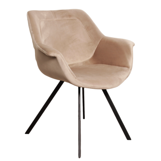 Ray arm chair velvet - zand