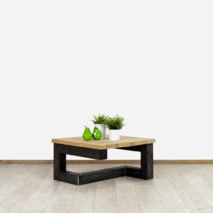 Eikenhouten salontafel Lucan met industrieel Frame