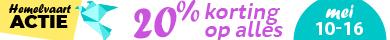 20% korting op alles