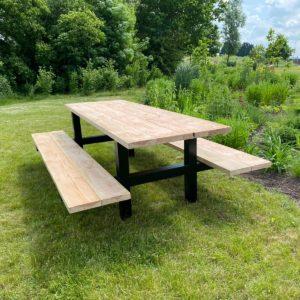 Douglas houten picknicktafel Indio met stalen H frame
