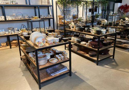 Steigerhouten industriele meubelen voor winkel