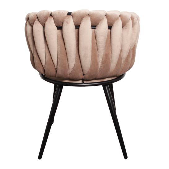 Wave chair velvet - zand