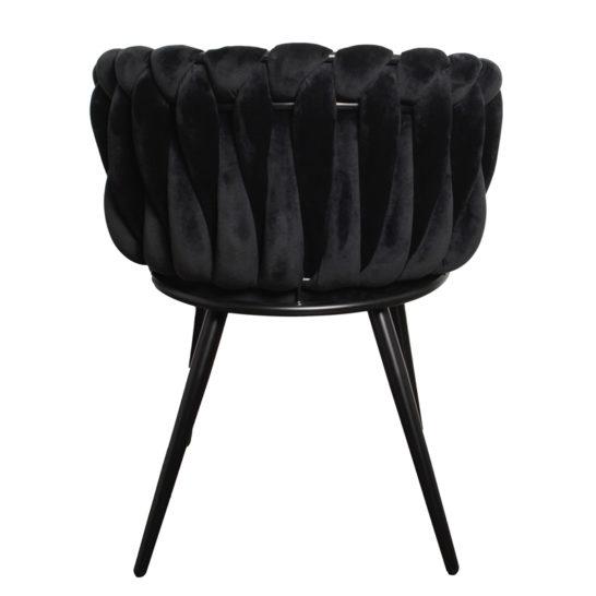 Wave chair velvet - zwart