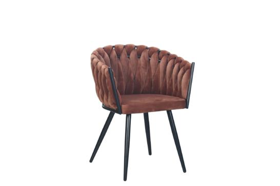 Wave chair velvet - koper