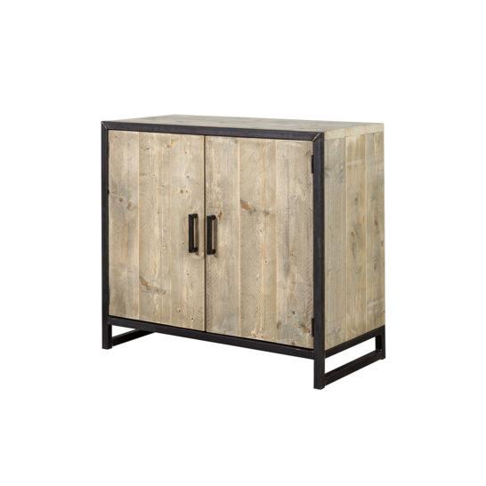 Steigerhouten dressoir Ducor met stalen frame